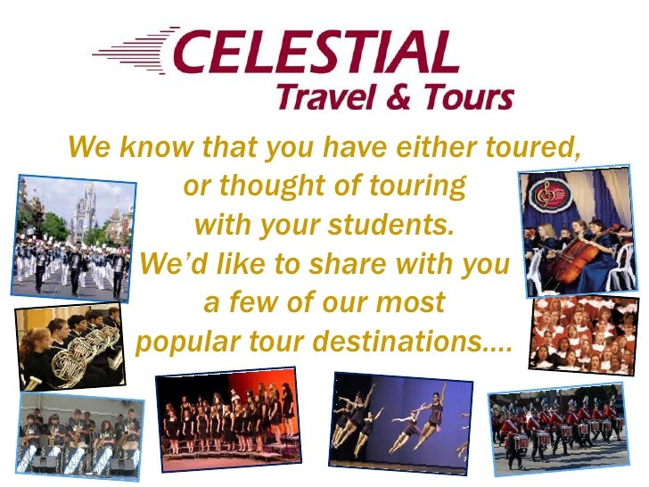 We know that you have either toured, or thought of touring with your students.We'd like to share with you a few of our mos...