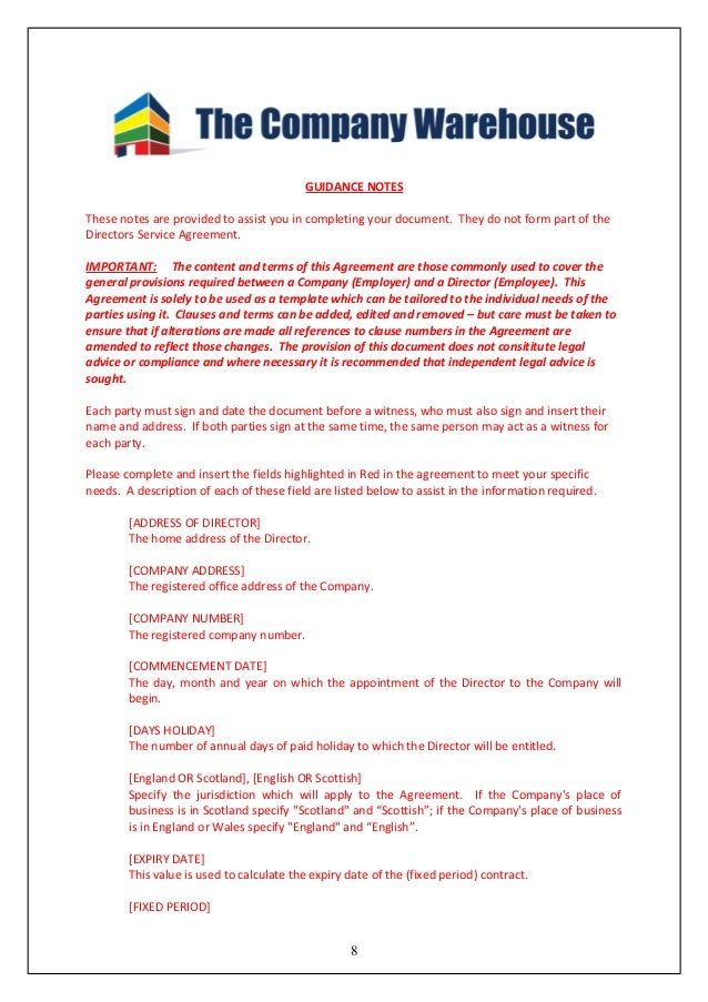Computer Service Contract | Contract Agreements, Formats