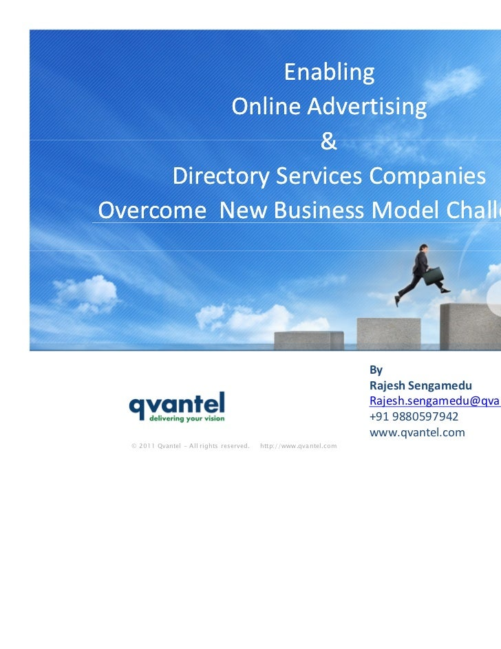 Enabling            Online Advertising                    &      Directory Services CompaniesOvercome New Business Model C...