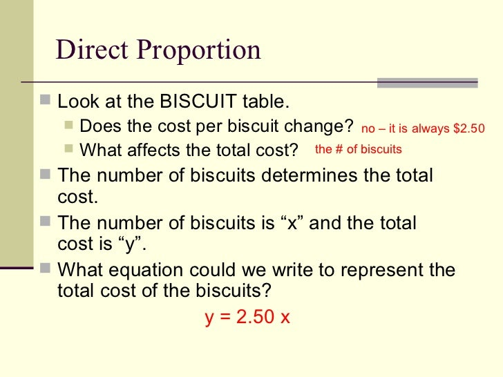 Algebra 1 – Write and solve direct variation equations