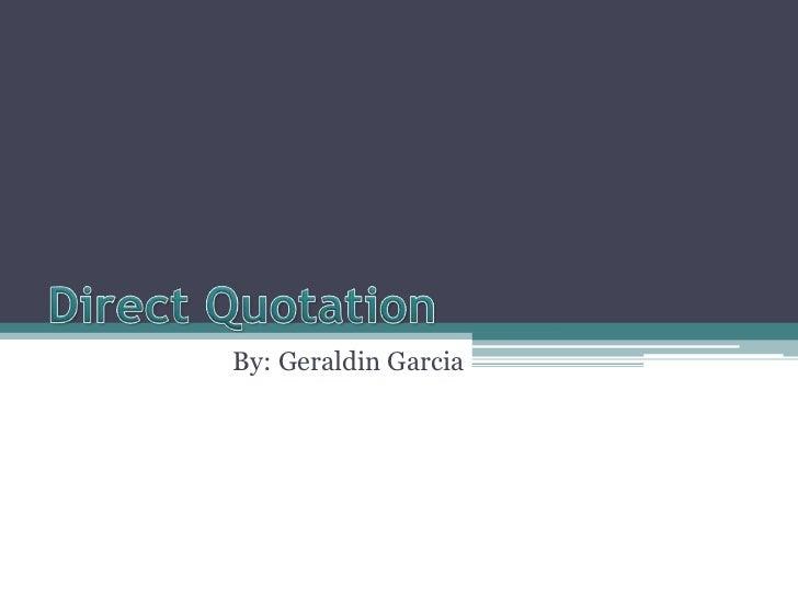 By: Geraldin Garcia