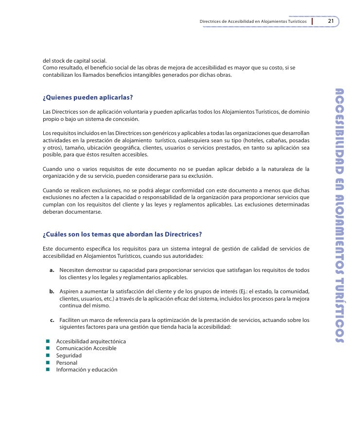 Directrices de accesibilidad en alojamientos tur sticos for Alcohol and drug abuse policy template