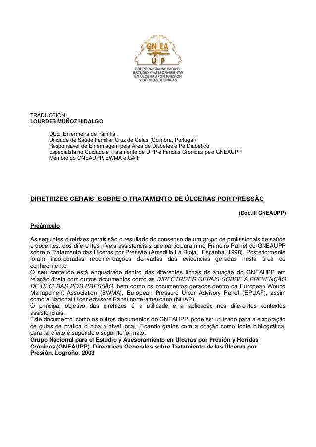 TRADUCCION: LOURDES MUÑOZ HIDALGO DUE. Enfermeira de Família Unidade de Saúde Familiar Cruz de Celas (Coimbra, Portugal) R...
