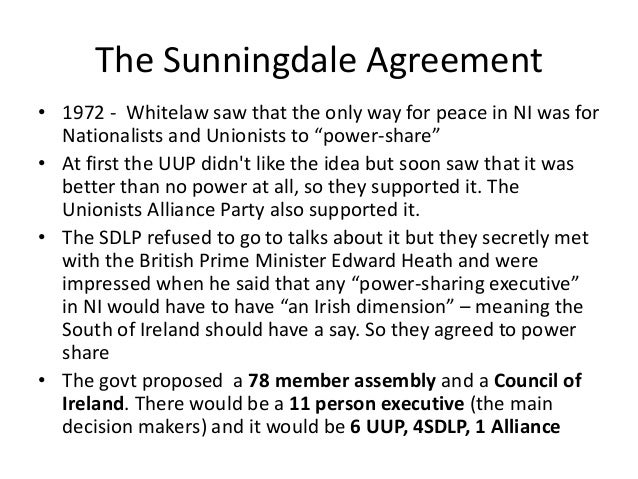 Direct Rule And Sunningdale Agreement