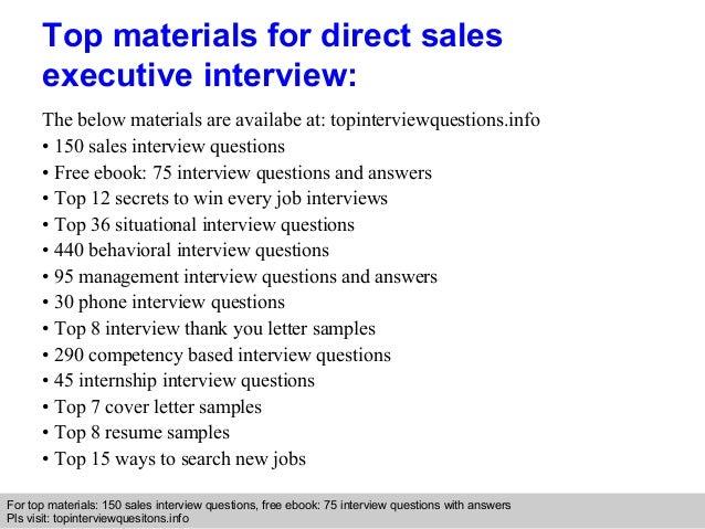 direct sales executive resume