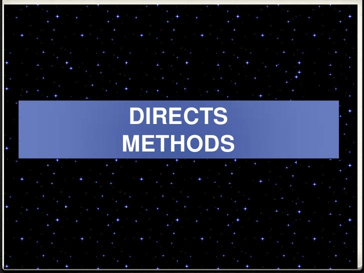 DIRECTS METHODS<br />