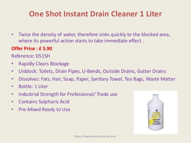 5 one shot instant drain cleaner