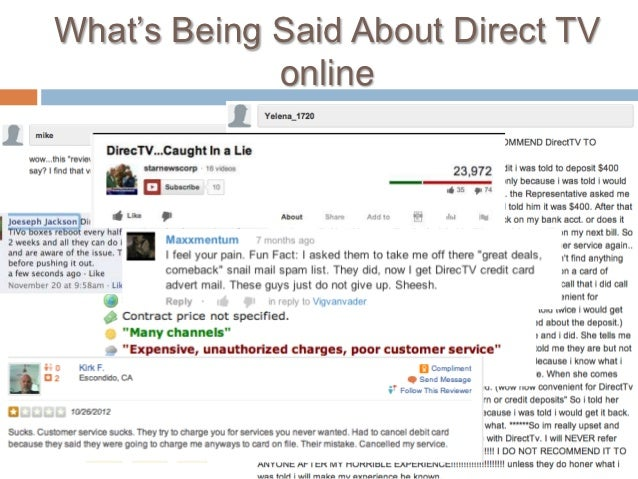 """What""""s Being Said About Direct TV             online"""