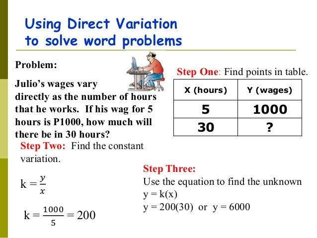 direct variation word problems worksheet resultinfos. Black Bedroom Furniture Sets. Home Design Ideas