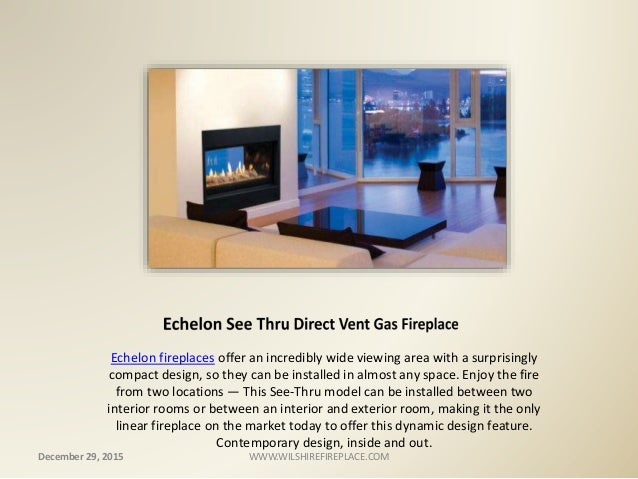 Direct Vent Gas Fireplace at Wilshire Fireplace Shop