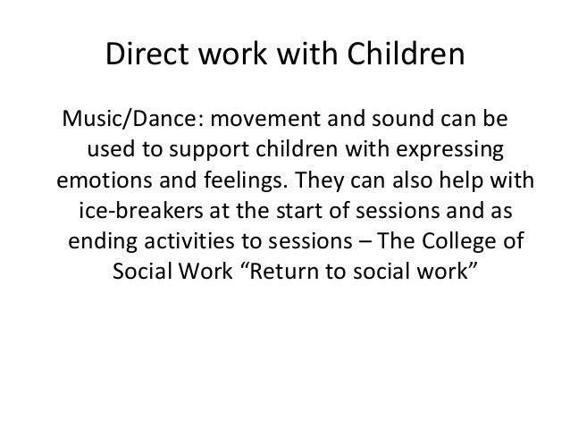 Direct Work With Children And Adults Using Musical Instruments