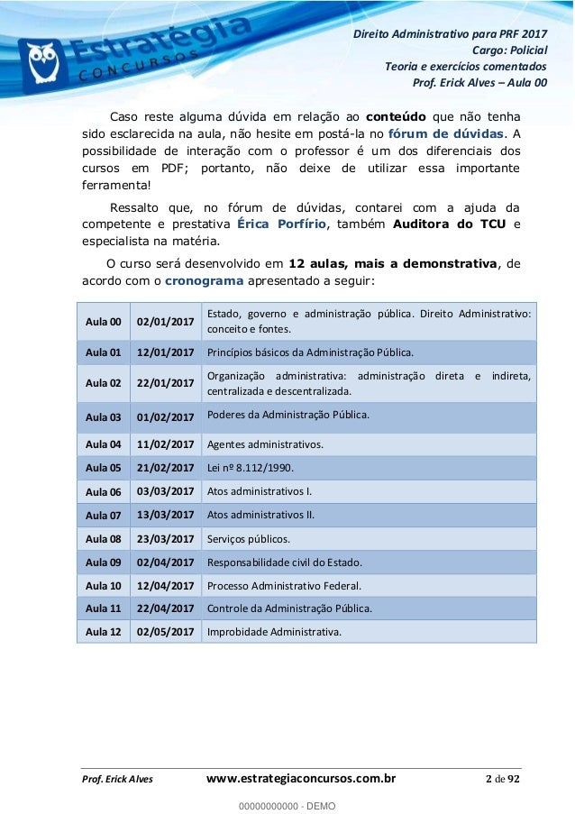 Curso de Direito Administrativo para Concurso PRF 2017 Slide 3