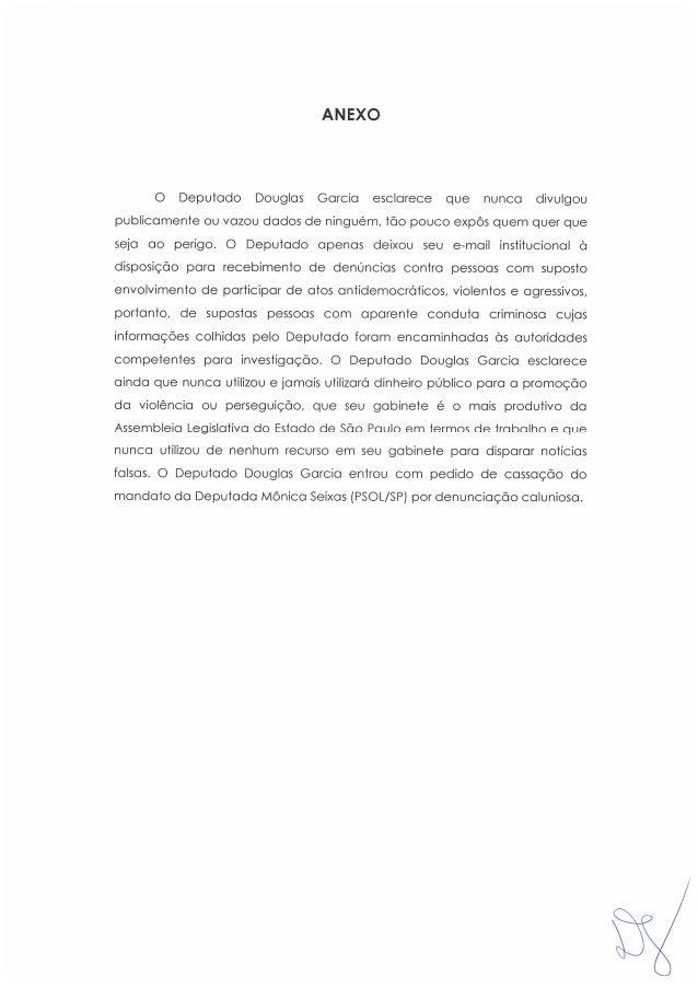 Direito de resposta de Douglas Garcia