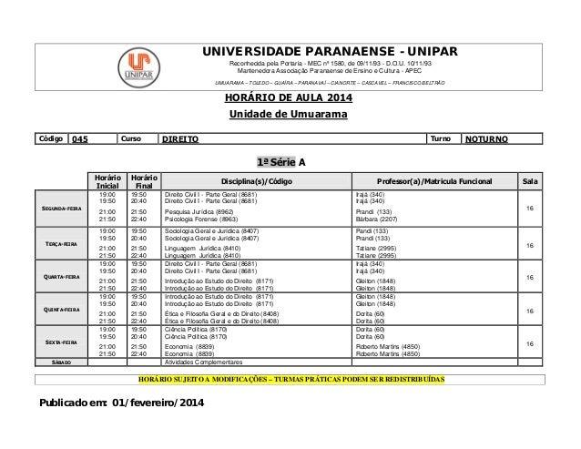 UNIVERSIDADE PARANAENSE - UNIPAR Reconhecida pela Portaria - MEC nº 1580, de 09/11/93 - D.O.U. 10/11/93 Mantenedora Associ...