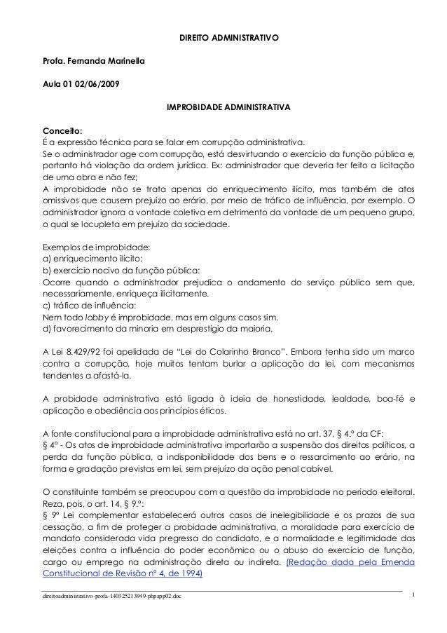 direitoadministrativo-profa-140325213949-phpapp02.doc 1 DIREITO ADMINISTRATIVO Profa. Fernanda Marinella Aula 01 02/06/200...