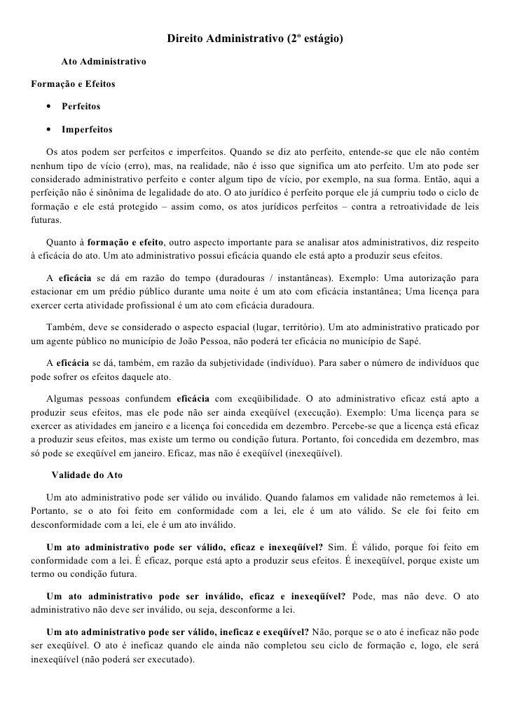 Direito administrativo 2º estágio 3 4 p
