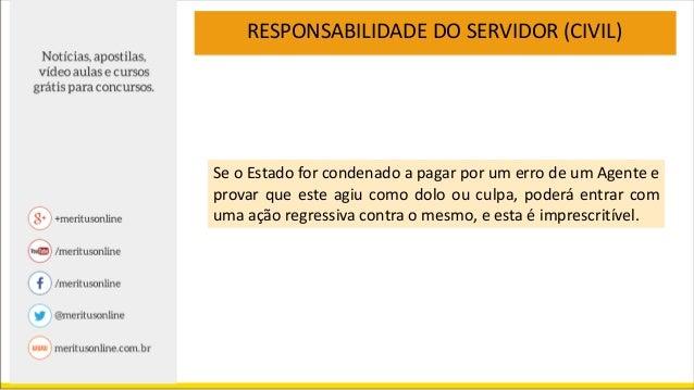 Direito Administrativo - Responsabilidade do Servidor Público