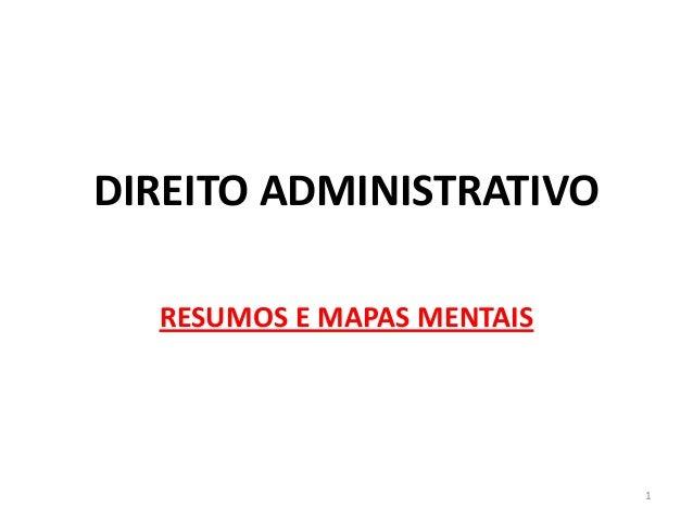 DIREITO ADMINISTRATIVO RESUMOS E MAPAS MENTAIS 1