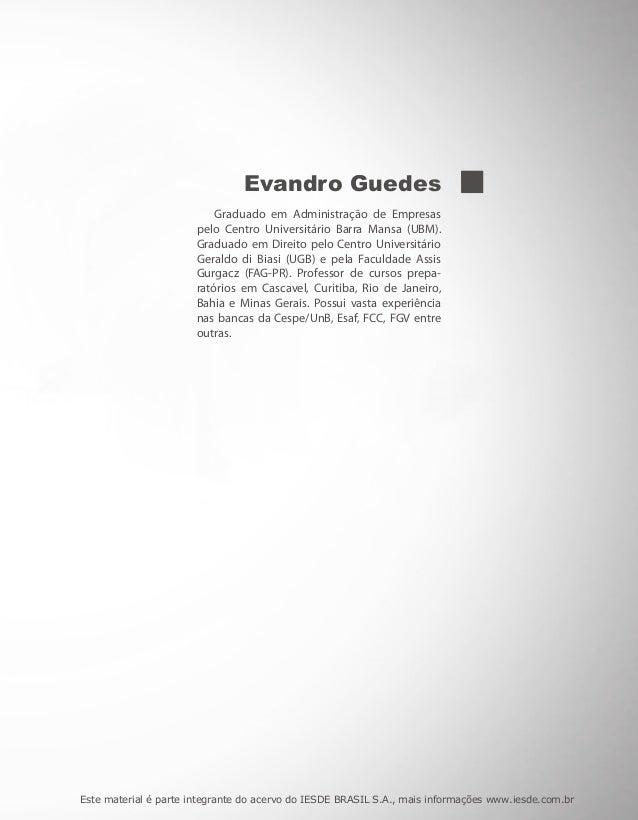 Evandro Guedes                           Graduado em Administração de Empresas                       pelo Centro Universit...
