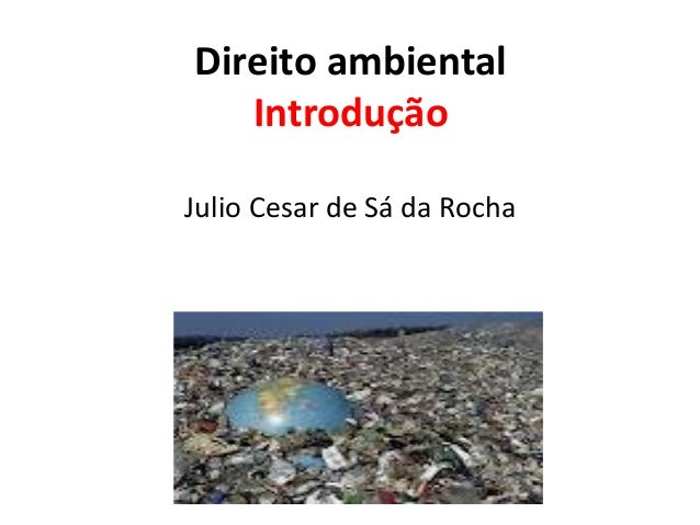 Direito ambiental   IntroduçãoJulio Cesar de Sá da Rocha