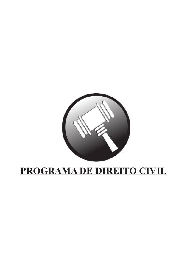 PROGRAMA DE DIREITO CIVIL