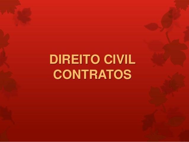 DIREITO CIVILCONTRATOS