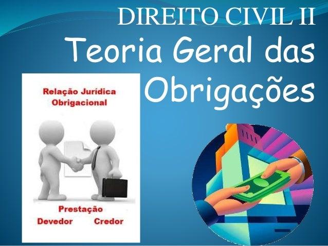 DIREITO CIVIL II  Teoria Geral das  Obrigações