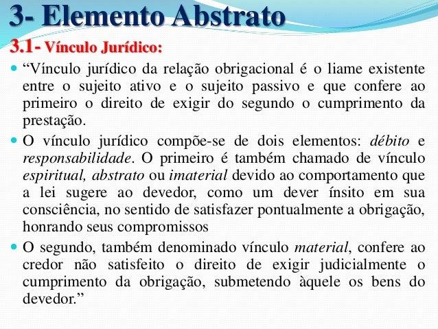 1- Quanto ao vínculo obrigacional  1.1- Moral:  Não existe obrigatoriedade para o cumprimento.  1.2- Natural:  Pode ou não...