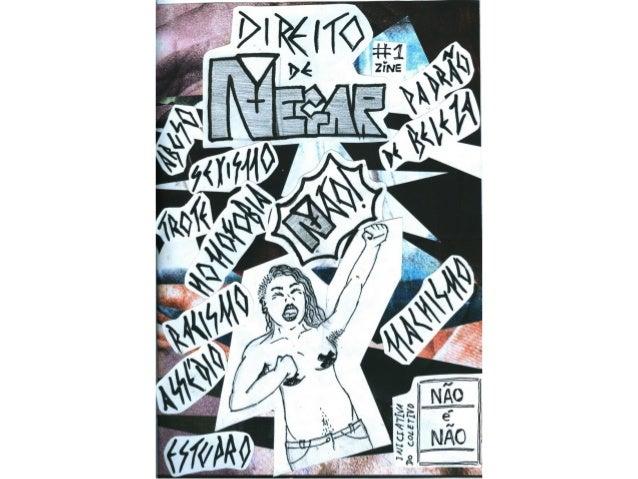 """Zine """"Direito de Negar"""" #1"""