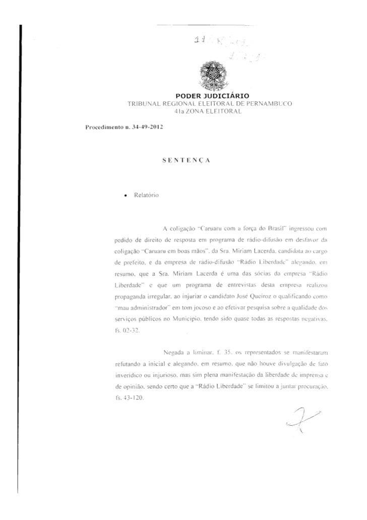 José Queiroz obtem direito de resposta