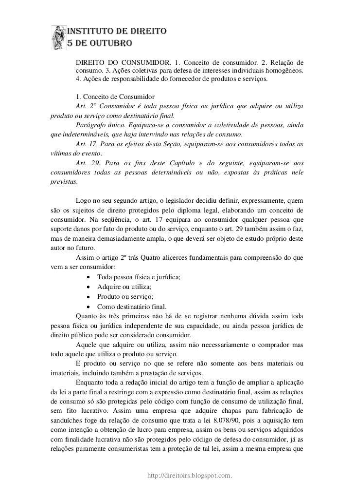 Direito do cosumidor pgdf