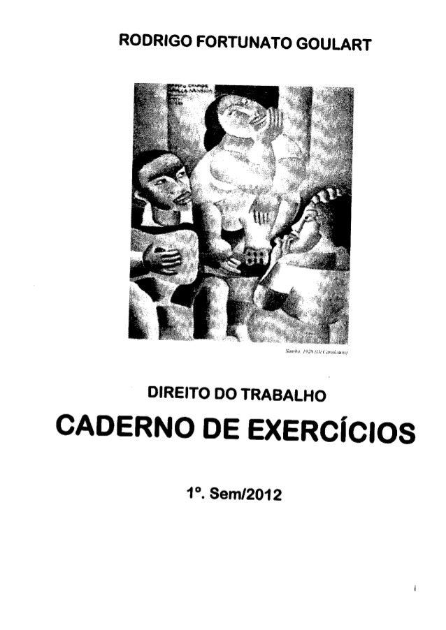 Direito do trabalho- caderno de exercicios
