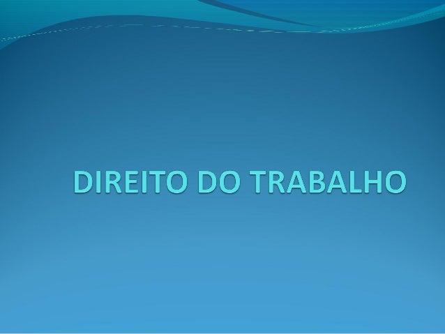 DIREITO DO TRABALHO CONCEITO: O conceito de direito individual do  trabalho, para o autor Mauricio Godinho, define-se com...