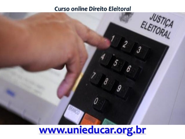 Curso online Direito Eleitoral www.unieducar.org.br