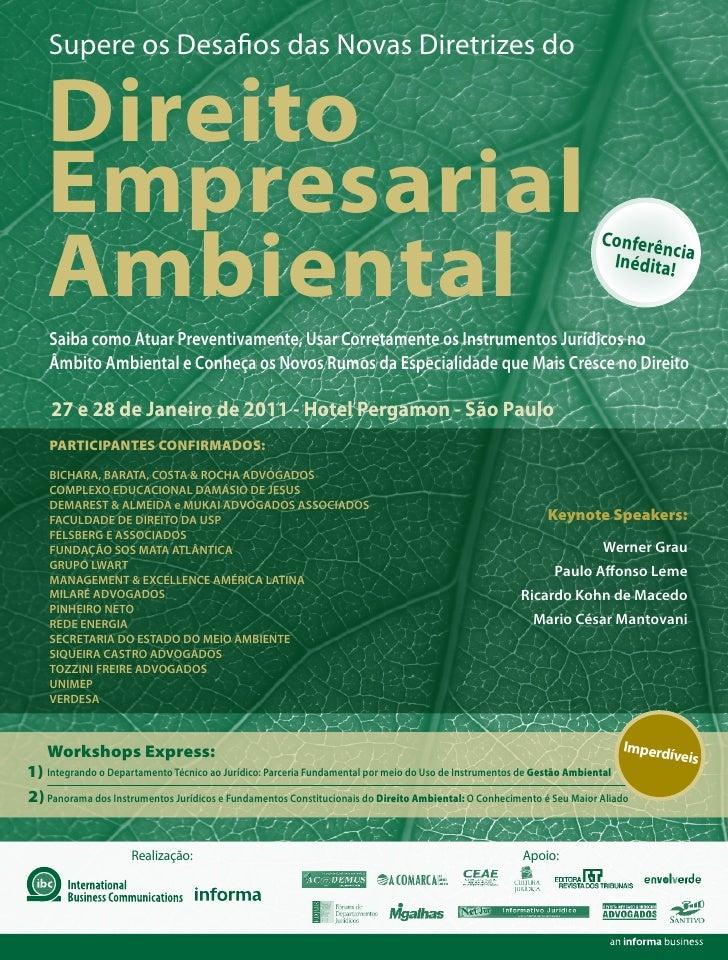 Supere os Desa os das Novas Diretrizes do    Direito    Empresarial    Ambiental                                          ...