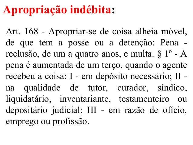 direito penal iii apropriação indébita4 apropriação indébita art 168