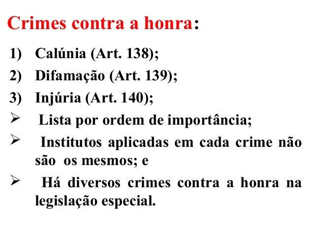 Direito Penal Iii Uneb Crimes Contra A Honra