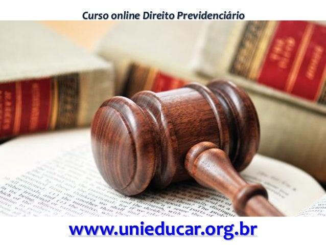 Curso online Direito Previdenciário www.unieducar.org.br
