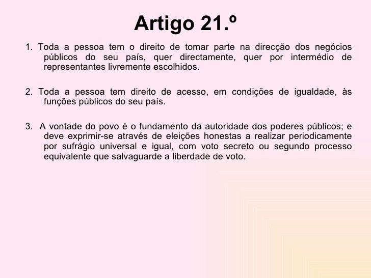 Artigo 3 direitos humanos