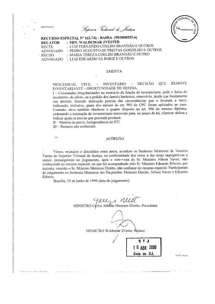 Direito Sao Bernardo   InventáRio   Julgado Stj   090828   Julgado 08