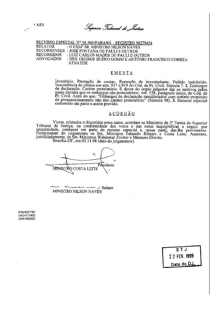 Direito Sao Bernardo   InventáRio   Julgado Stj   090828   Julgado 09