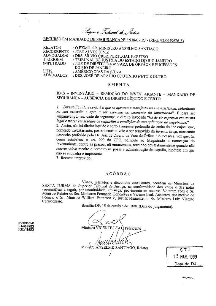 Direito Sao Bernardo   InventáRio   Julgado Stj   090828   Julgado 10