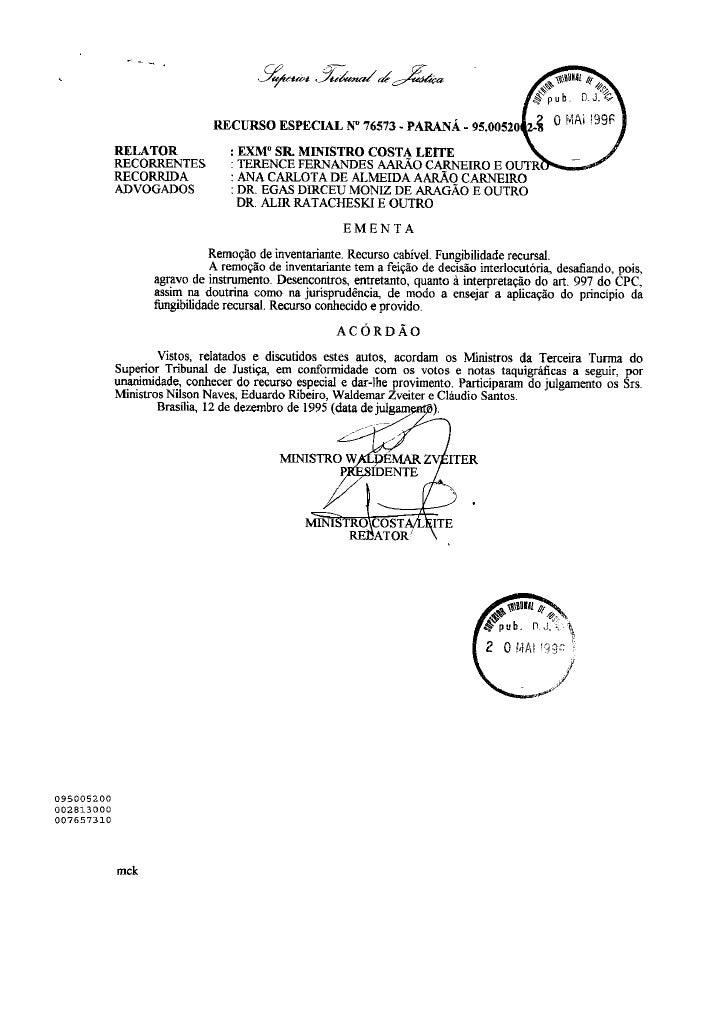 Direito Sao Bernardo   InventáRio   Julgado Stj   090828   Julgado 12