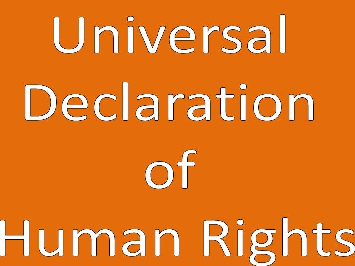 Universal Declaration of Human Rights<br />