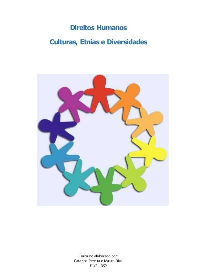 Direitos Humanos  Culturas, Etnias e Diversidades  Trabalho elaborado por:  Catarina Pereira e Mauro Dias  E1/2 - DSP