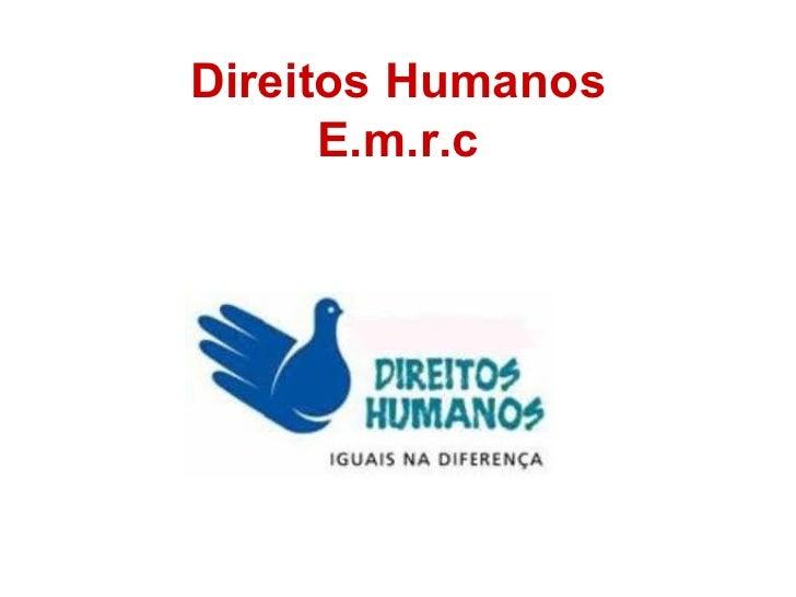 Direitos Humanos E.m.r.c