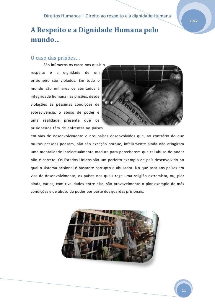 Direitos Humanos – Direito ao respeito e à dignidade Humana                                                               ...