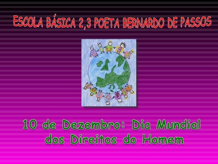 ESCOLA BÁSICA 2,3 POETA BERNARDO DE PASSOS