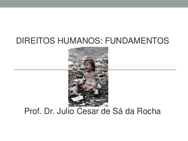 DIREITOS HUMANOS: FUNDAMENTOS Prof. Dr. Julio Cesar de Sá da Rocha