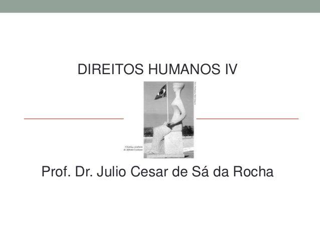 DIREITOS HUMANOS IV Prof. Dr. Julio Cesar de Sá da Rocha